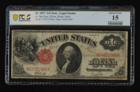 1917 $1 One-Dollar Red Seal U.S. Legal Tender Large-Size Bank Note (PCGS 15) at PristineAuction.com