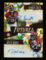 DeVonta Smith & Jaylen Waddle 2021 Panini Legacy Futures Ink Combos Yellow Diamond #3 RC #02/10 at PristineAuction.com
