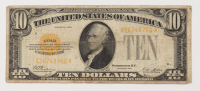 1928 $10 Ten-Dollars U.S. Gold Certificate Bank Note at PristineAuction.com