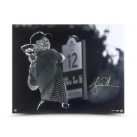 "Tiger Woods Signed ""Gold Drive"" 24x30 LE Photo (UDA COA) at PristineAuction.com"