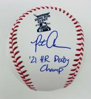 "Pete Alonso Signed 2021 Home Run Derby OML Baseball Inscribed ""21 HR Derby Champ"" (Fanatics Hologram & MLB Hologram) at PristineAuction.com"