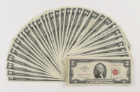 Lot of (50) 1963 $2 Two-Dollars Red Seal U.S. Legal Tender Notes with Consecutive Serial Numbers at PristineAuction.com