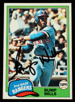 Bump Wills Signed 1981 Topps #173 (JSA COA) at PristineAuction.com