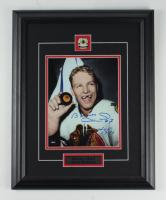 "Bobby Hull Signed Blackhawks 15.5x19.5 Custom Framed Photo Display Inscribed ""HOF 1983"" (COJO COA) at PristineAuction.com"