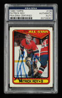 Patrick Roy Signed 1990-91 Topps #198 AS1 (PSA Encapsulated) at PristineAuction.com