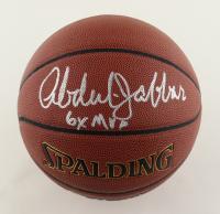 "Kareem Abdul-Jabbar Signed NBA Basketball Inscribed ""6x NBA MVP"" (Schwartz COA) at PristineAuction.com"