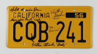 """John Carpenter's """"Christine"""" California License Plate Signed by (4) with Alexandra Paul, William Ostrander, Malcolm Danare, Keith Gordon Inscribed """"Oh...Show Me!"""" & Character Name Inscriptions (Beckett Hologram) at PristineAuction.com"""