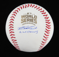"""Kyle Schwarber Signed 2016 World Series Baseball Inscribed """"16 WS Champs"""" (Beckett COA) at PristineAuction.com"""