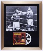 "Joe Frasier vs. Muhammad Ali ""Fight of the Champions"" 17x21 Custom Framed Photo Shadowbox Display with Vintage 8mm Film Reel at PristineAuction.com"