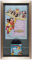"""""""Mighty Mouse"""" 15x28 Custom Framed Print Display with Vintage """"Svengali's Cat"""" 8mm Film Reel at PristineAuction.com"""