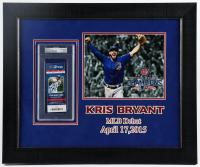Kris Bryant Signed Cubs 19x23 Custom Framed 2015 MLB Debut Game Ticket Display (PSA Encapsulated) at PristineAuction.com