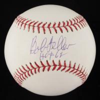 "Bob Feller Signed OML Baseball Inscribed ""HOF '62"" (TriStar Hologram) at PristineAuction.com"