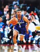Muggsy Bogues Signed Hornets 11x14 Photo (PSA COA) at PristineAuction.com