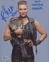 """Rhea Ripley Signed NXT 8x10 Photo Inscribed """"NXT Womens Champ!"""" (Beckett COA) at PristineAuction.com"""