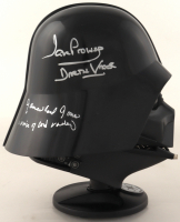 """David Prowse & James Earl Jones Signed """"Star Wars"""" Darth Vader Authentic Mini Helmet Inscribed """"Darth Vader"""", """"Voice of Darth Vader"""" & """"May The Force Be With You"""" (Beckett LOA) at PristineAuction.com"""