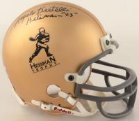 "Angelo Bertelli Signed Heisman Trophy Logo Mini Helmet Inscribed ""Heisman - 43"" (Beckett COA) (See Description) at PristineAuction.com"