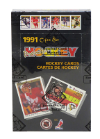 1990-91 O-Pee-Chee Premier Hockey Wax Box with (36) Packs (BBCE Certified) at PristineAuction.com