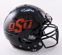 Chuba Hubbard Signed Oklahoma State Cowboys Full-Size Authentic On-Field F7 Helmet (Beckett Hologram) at PristineAuction.com