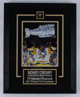 Sidney Crosby Penguins 16x20 Custom Framed Photo Display (FSM COA) (See Description) at PristineAuction.com
