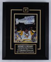 Sidney Crosby Penguins 16x20 Custom Framed Photo Display (FSM COA) at PristineAuction.com