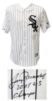 """Jerry Reinsdorf Signed White Sox Jersey Inscribed """"2005 WS Champs"""" (Schwartz COA) at PristineAuction.com"""