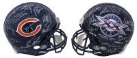 1985 Bears Full-Size Superbowl XX Logo Helmet Team-Signed by (28) with Mike Ditka, Jay Hilgenberg, Mike Singletary, Richard Dent (Schwartz COA) at PristineAuction.com