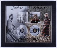 "Taylor Swift Signed 19.5x23.5 Custom Framed ""Folklore"" & ""Evermore"" Album Photo Display (JSA Hologram) at PristineAuction.com"