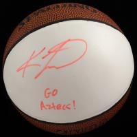"Kawhi Leonard Signed Mini Basketball Inscribed ""Go Aztecs!"" (Beckett LOA) at PristineAuction.com"