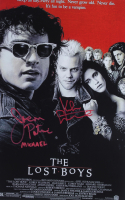 """Jason Patric & Kiefer Sutherland Signed """"The Lost Boys"""" 11x17 Movie Poster Inscribed """"Michael"""" (JSA COA) at PristineAuction.com"""