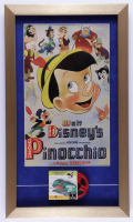 """Walt Disney's """"Pinocchio"""" 14x24 Custom Framed Display with """"Monstro the Whale"""" 8MM Film (See Description) at PristineAuction.com"""