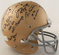 1966 Notre Dame Fighting Irish Full-Size Helmet Team-Signed by (18) with Terry Hanratty, Nick Eddy, Mike McGill, John Pergine, Joe Azzaro with Multiple Inscriptions (Beckett LOA) at PristineAuction.com