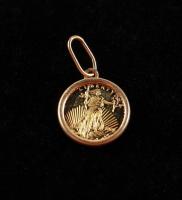 Mini Replica $20 Twenty-Dollars Saint-Gaudens Double Eagle Gold Coin Pendant at PristineAuction.com