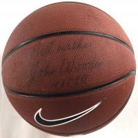 """John Wooden Signed Nike Basketball Inscribed """"Best Wishes"""" & """"UCLA"""" (Beckett COA) (See Description) at PristineAuction.com"""