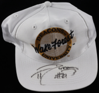 Tim Duncan Signed Wake Forest Demon Deacons Snapback Hat (Beckett LOA) at PristineAuction.com