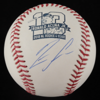 Ronald Acuna Jr. Signed 2018 NL ROY OML Baseball (JSA COA & USA SM Hologram) at PristineAuction.com