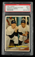 Mickey Mantle / Yogi Berra 1957 Topps #407 Yankees Power Hitters (PSA 7) (PD) at PristineAuction.com