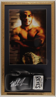 Mike Tyson Signed 16x28 Custom Framed Cleto Reyes Leather Boxing Glove Display (PSA COA) at PristineAuction.com