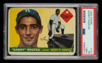 Sandy Koufax 1955 Topps #123 RC (PSA 1) (MK) at PristineAuction.com