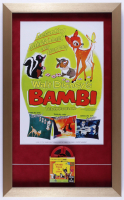 "Vintage Walt Disney's ""Bambi"" 15x25 Custom Framed Print Display with 8mm Film (See Description) at PristineAuction.com"