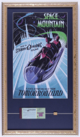 Vintage Disneyland Space Mountain 15x26 Custom Framed Print Display with Ticket Book & FedEx Sponsor Pin at PristineAuction.com