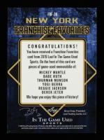 2019 ITG Used Sports Franchise Favorites Memorabilia Platinum Blue Spectrum #FRF06 #4/5 Mickey Mantle/Babe Ruth/Thurman Munson/Yogi Berra/Reggie Jackson/Derek Jeter at PristineAuction.com