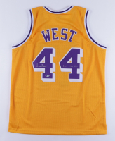 """Jerry West Signed Jersey Inscribed """"HOF 1980 - 2010"""" (Beckett COA) at PristineAuction.com"""