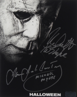 """James Jude Courtney & Nick Castle Signed """"Halloween"""" 8x10 Photo Inscribed """"Michael Myers"""" & """"The Shape"""" (Radtke COA) at PristineAuction.com"""