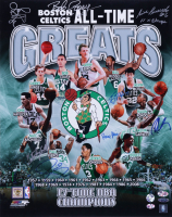 """Celtics All-Time Greats 16x20 Photo Signed by (8) with Larry Bird, Kevin Mchale, Paul Pierce, Robert Parish, Bill Russell Inscribed """"11x Champs"""" (JSA ALOA) (See Description) at PristineAuction.com"""