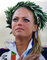 """Jennie Finch Signed Team USA 16x20 Photo Inscribed """"04 US Gold"""" (PSA Hologram) at PristineAuction.com"""