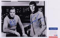 "William Shatner & Leonard Nimoy Signed ""Star Trek"" 11x14 Photo Inscribed ""Capt. Kirk"" & ""Spock"" (PSA COA) at PristineAuction.com"