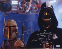 """""""Star Wars"""" 11x14 Photo Signed by (4) with James Earl Jones, Jason Wingreen, Jeremy Bulloch, & David Prowse with Multiple Inscriptions (Beckett LOA) at PristineAuction.com"""