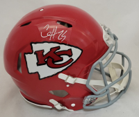 Clyde Edwards-Helaire Signed Chiefs Full-Size Authentic On-Field Speed Helmet (Beckett Hologram) at PristineAuction.com