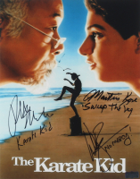 "Ralph Macchio, William Zabka, & Martin Kove Signed ""The Karate Kid"" 11x14 Photo With Multiple Inscriptions (Radtke COA) at PristineAuction.com"