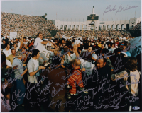 1972 Miami Dolphins 16x20 Photo Team-Signed by (33) with Bob Griese, Larry Csonka, Paul Warfield, Larry Little, Jim Langer, Mercury Morris (Beckett LOA) at PristineAuction.com